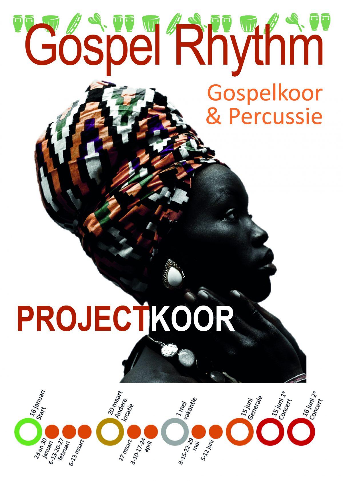 Flyer van het projectkoor
